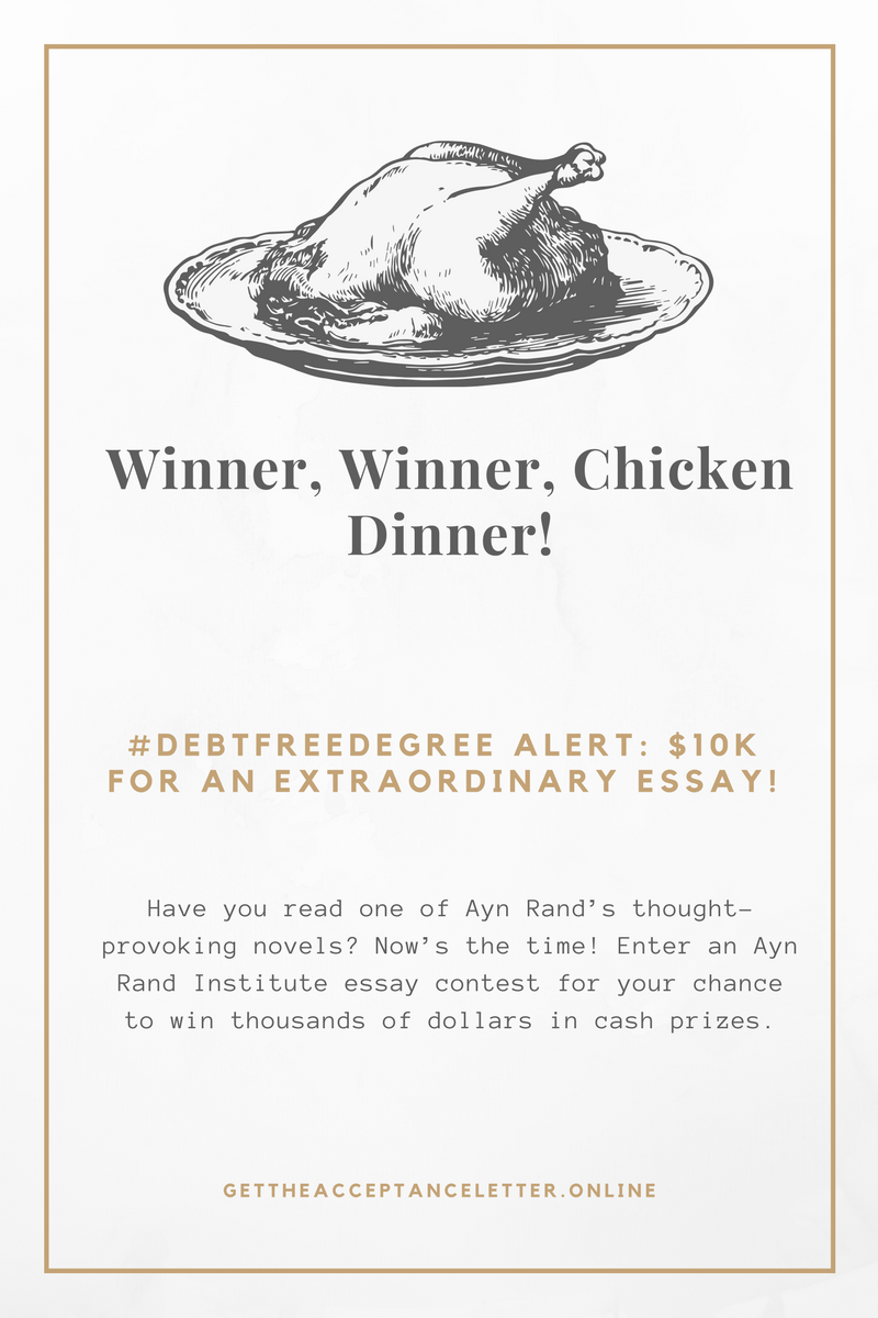 ayn rand institute essay contest 2010 Have you read one of ayn rand's thought-provoking novels now's the time enter an ayn rand institute essay contest for your chance.